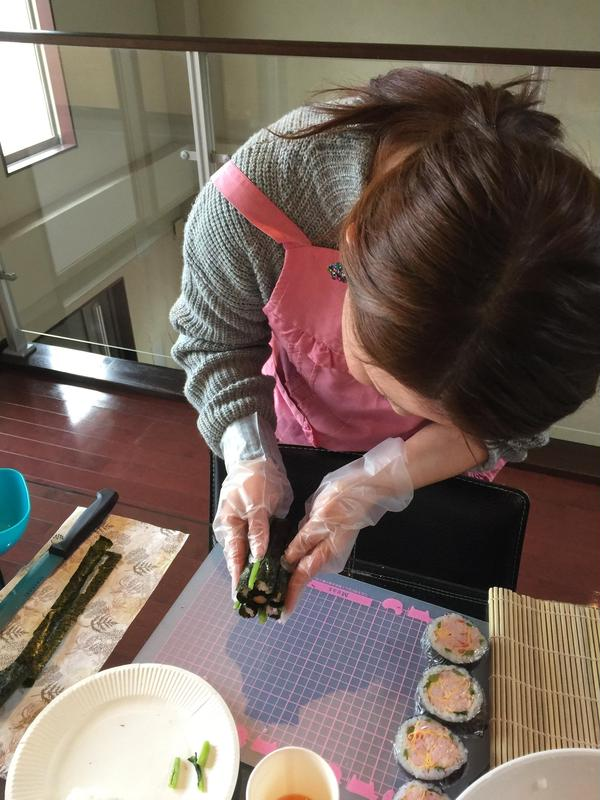 1DAY完結の巻き寿司レッスン☆一度に6名様までOK