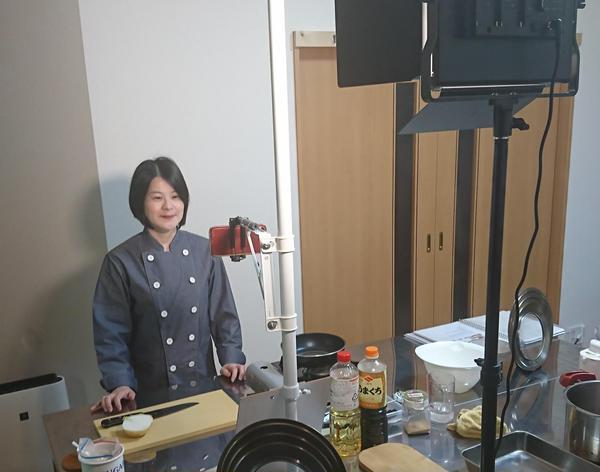 オンライン料理教室風景