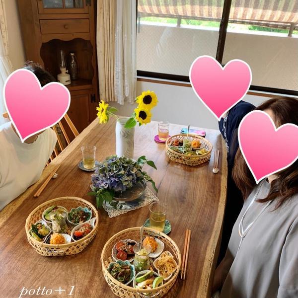 夏の中華御膳レッスン 季節のお花にテンションアップ