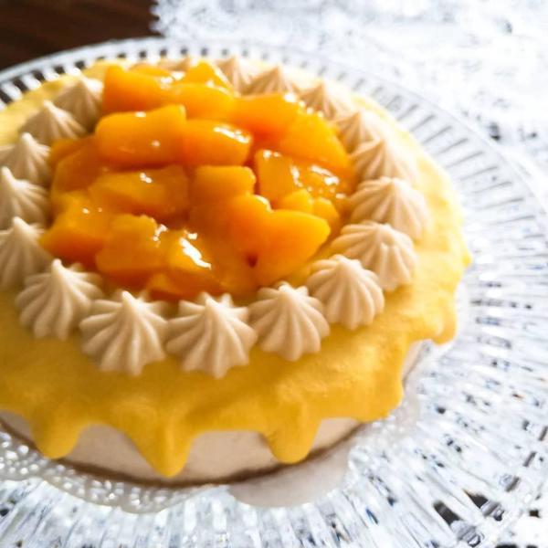 ドロップマンゴーレモンRawケーキ