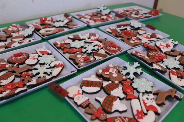 クリスマスのワークショップの生徒様作品