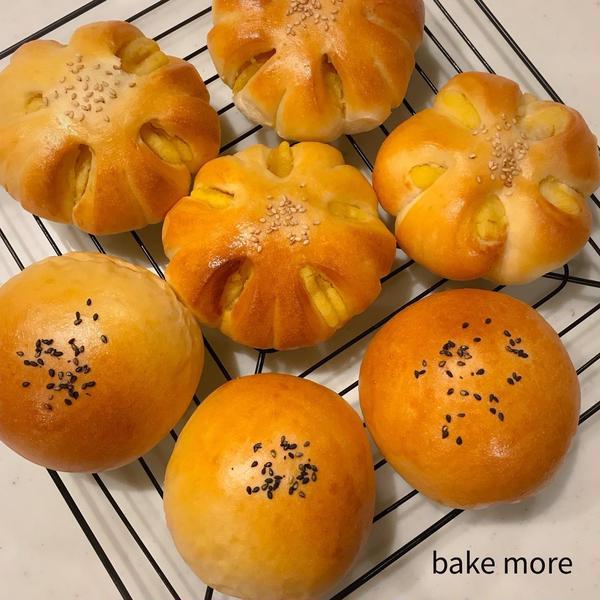 ホシノ天然薔薇酵母のかぼちゃあんぱん