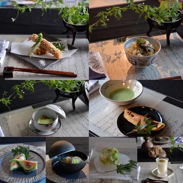 今月レッスン夏の涼を彩る懐石料理とテーブルコーディネート