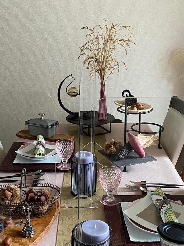 パーテーション6枚使用。秋の収穫祭をイメージしたテーブル♪