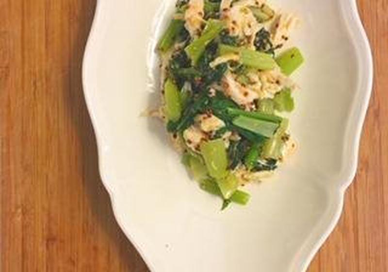 かぶの葉レシピ