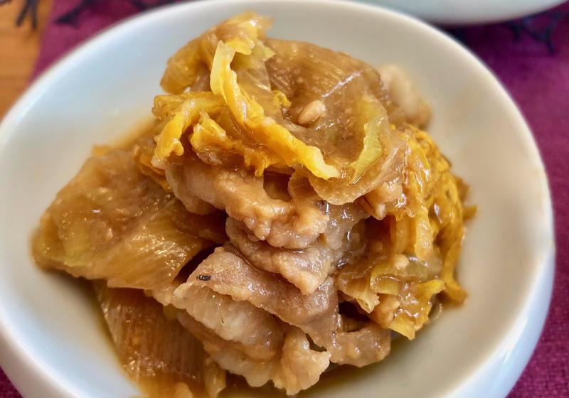 白菜 豚バラ うま煮