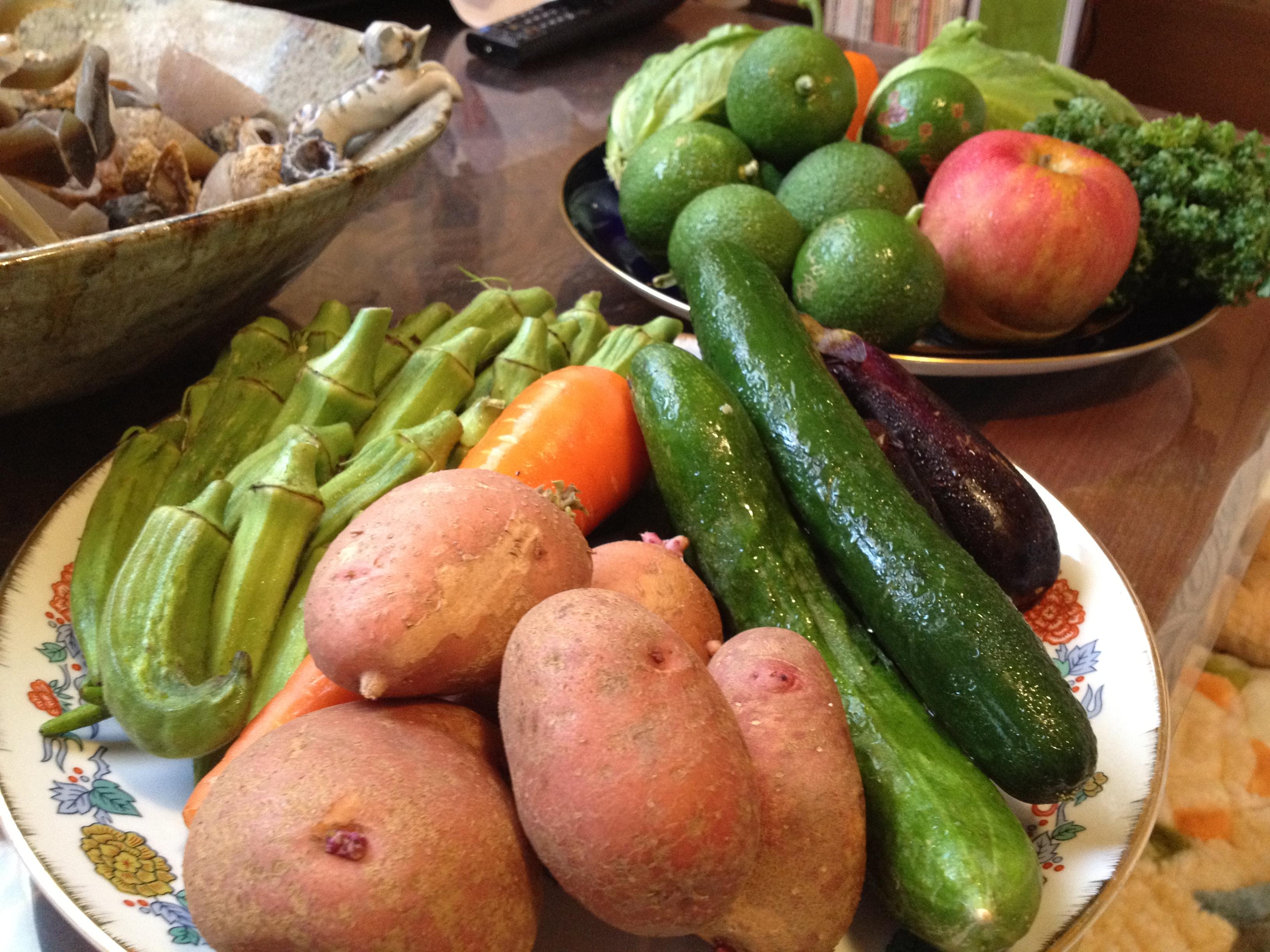 お野菜は新鮮なものを使います。たまに珍しい食材も加えて❤